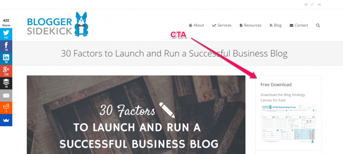 Blogger Sidekick Right Sidebar CTA