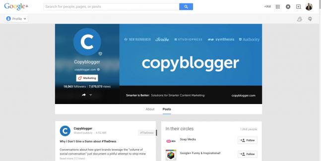Copyblogger Google+ Design