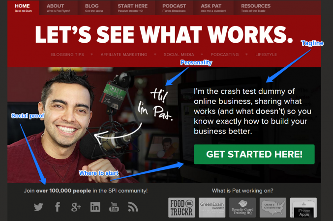 Home page blog design smart passive income pat flynn