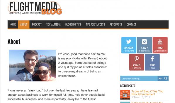 Josh Coffy Flight Media Personalize