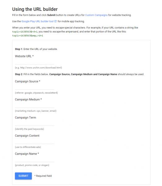 Google URL Builder for Blogger Outreach