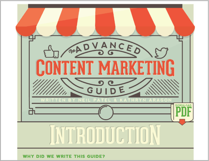 Content marketing guide from quick sprout