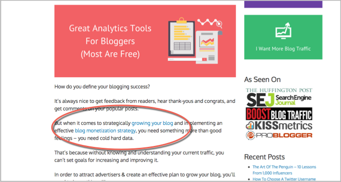 Internal linking from Adam Connell for content anchors