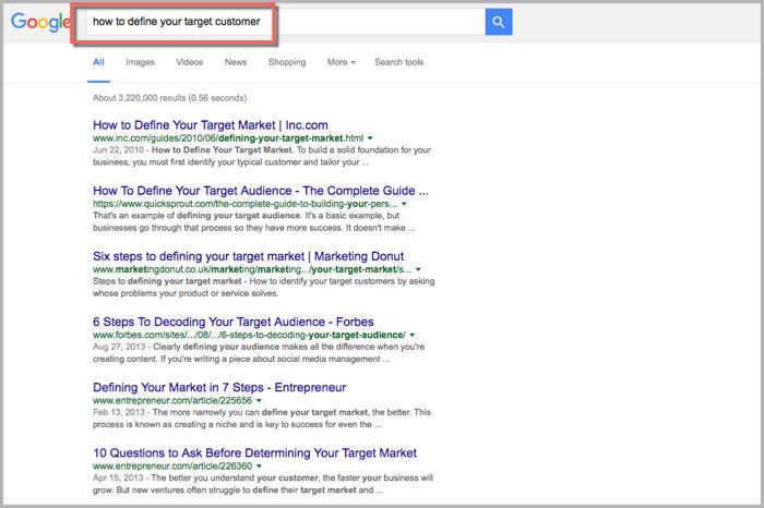 Target customer search - Google