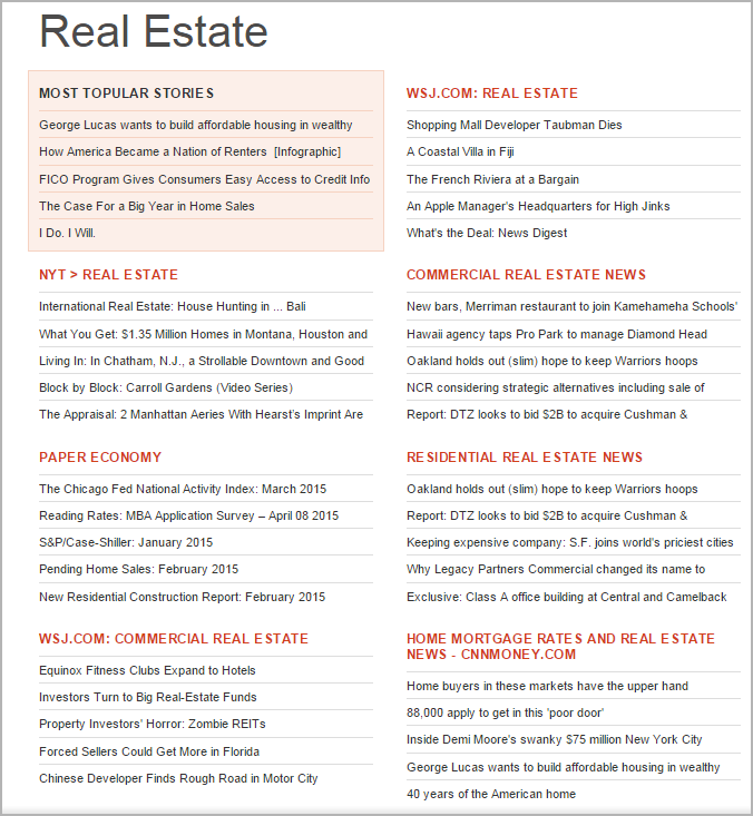 AllTop Search for Blogger Outreach - Real estate search