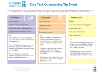 Blog Outsourcing Tip Sheet