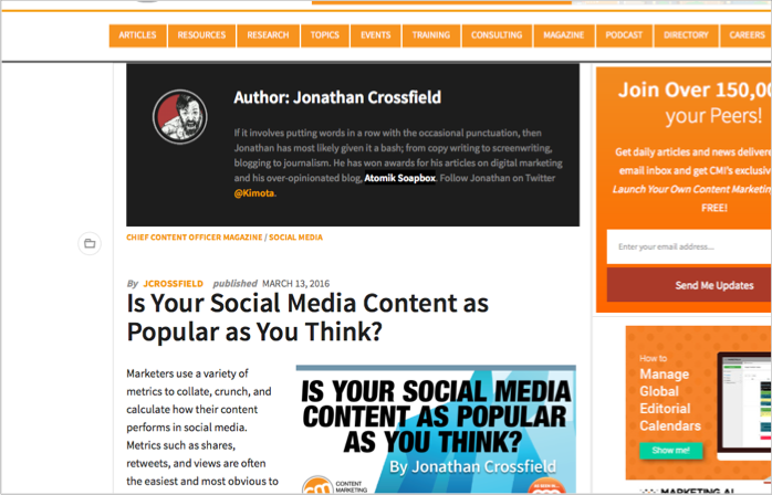 Jonathan Crossfield CMI example of how to get backlinks