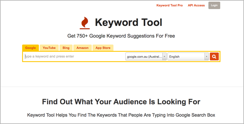 Keyword Tool for blog outsourcing management