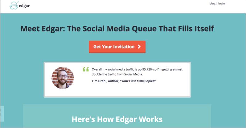 Meet Edgar for blog outsourcing management