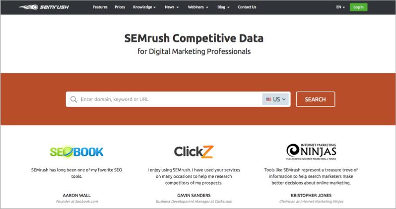 SEMrush for blog outsourcing management