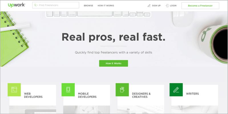 UpWork for blog outsourcing
