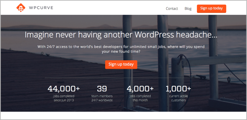 WPCurve for blog outsourcing management