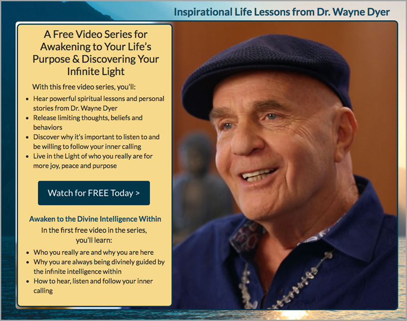 Free Video Series Example for lead magnet ideas