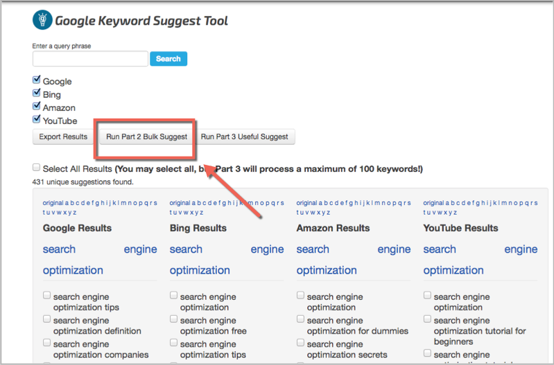 SEO chat keyword research tool