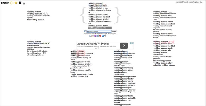 Soovle keyword research method