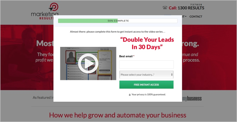 Free video series as a lead magnet idea - Marketing Results
